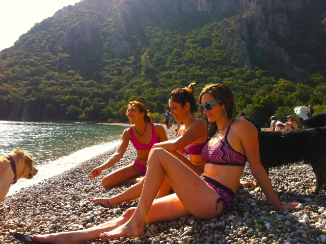 Argie, Lola and I enjoying the view in Olympos.