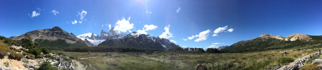 One of the many impressive views on a hike from the town of El Chalten, Argentina.