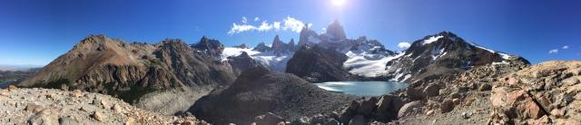 Panorama from Lago de los Tres.